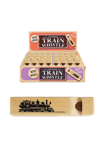 Mini Wooden Train Whistle