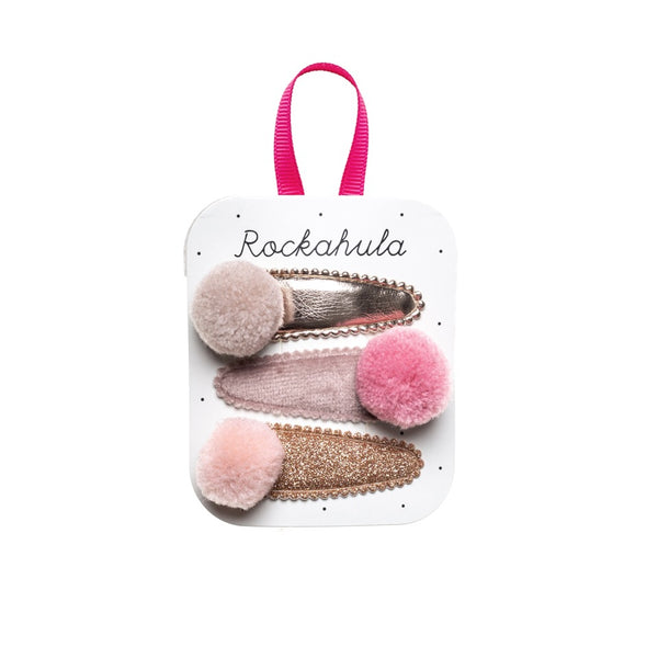 Pandora Pom Pom Hair Clips - Pinks