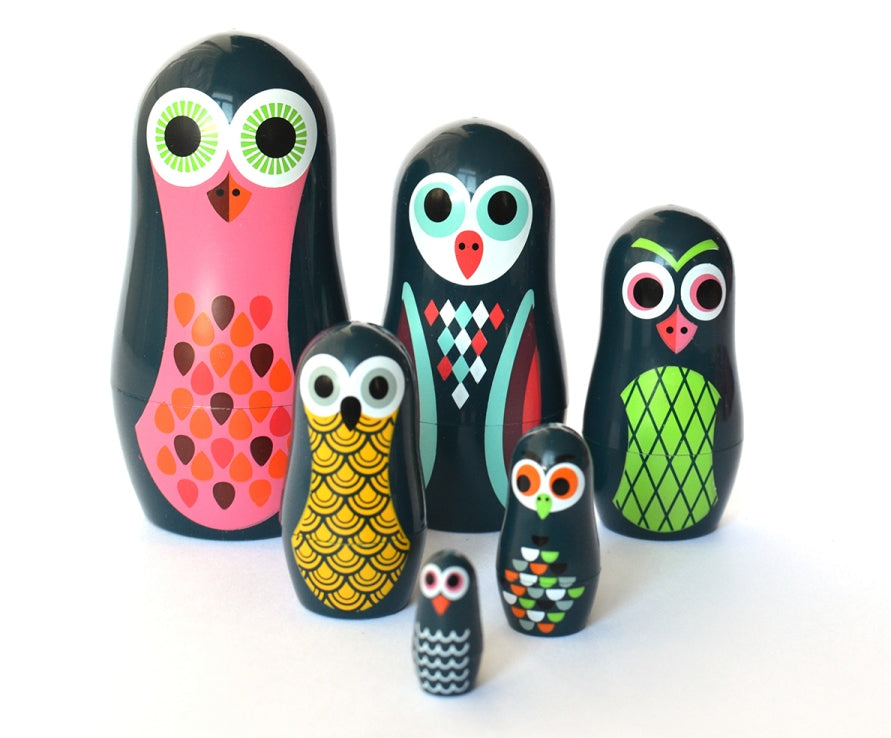 Nesting Dolls - Matryoshka - Pocket Owls