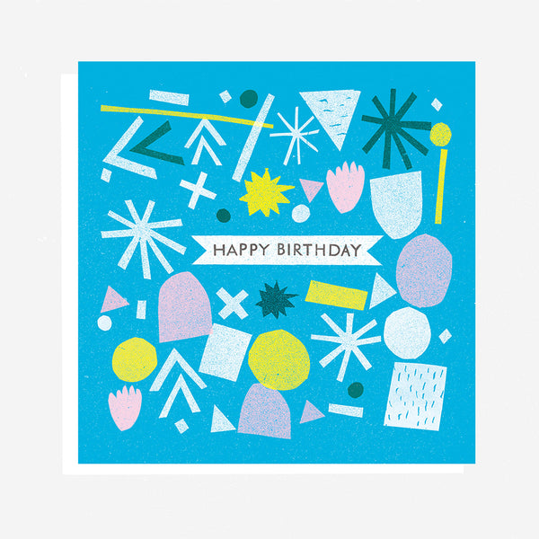 Happy Birthday - Blue Card