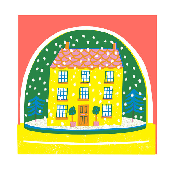 Snowglobe Card - House