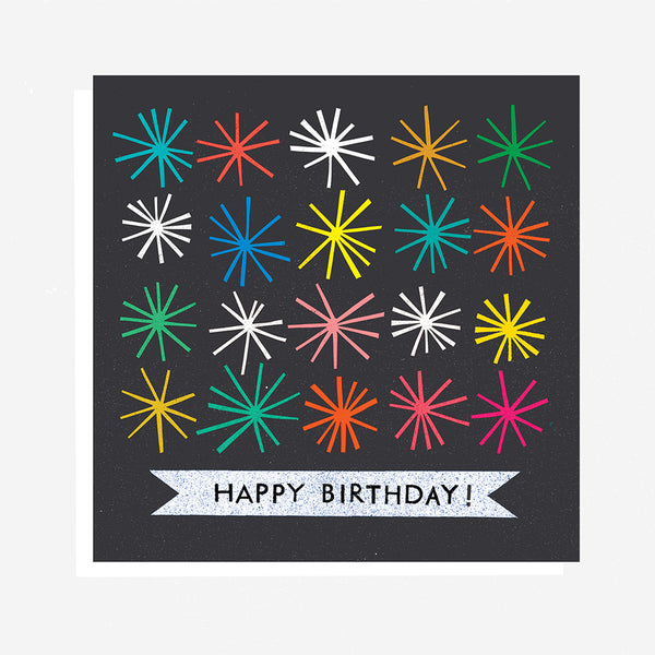 Happy Birthday - Starburst Card
