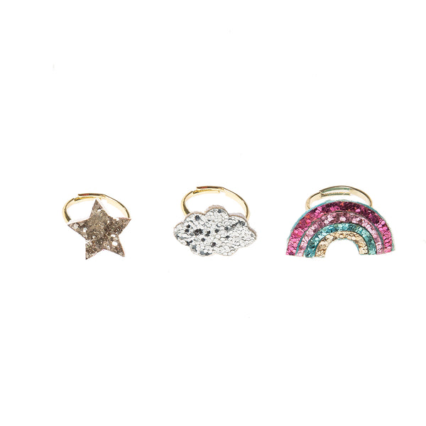 Rainbow Star Ring Set