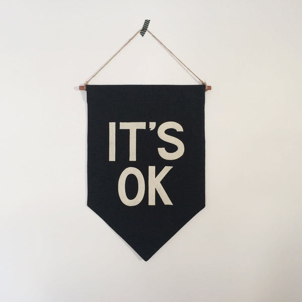 IT'S OK Banner - Black