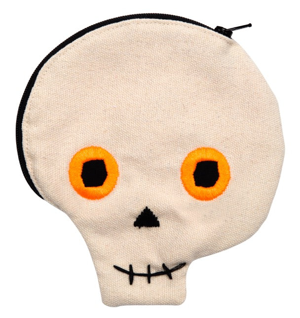 Scary Skull Zip Pouch