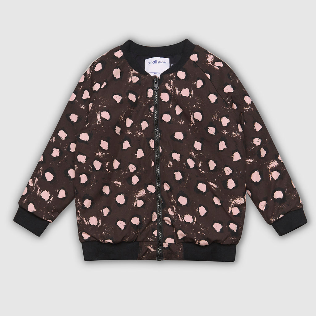 Quilted Bomber Jacket - Painted Spots