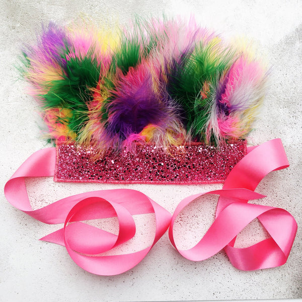 Rainbow Feather Crown