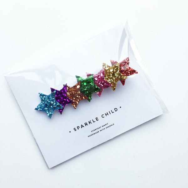 Large rainbow Star Hair Clip