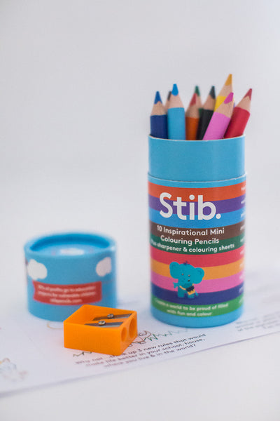 Stib - Inspirational Mini Colouring Pencils