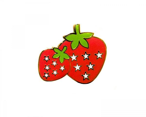 Strawberries Enamel Pin
