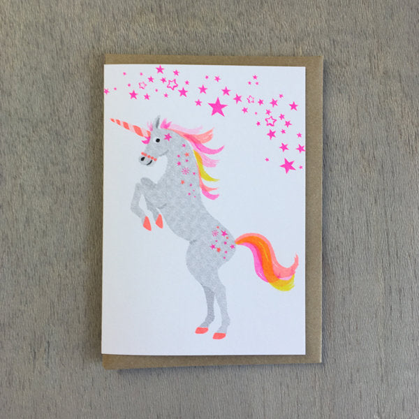 Unicorn Risograph Card