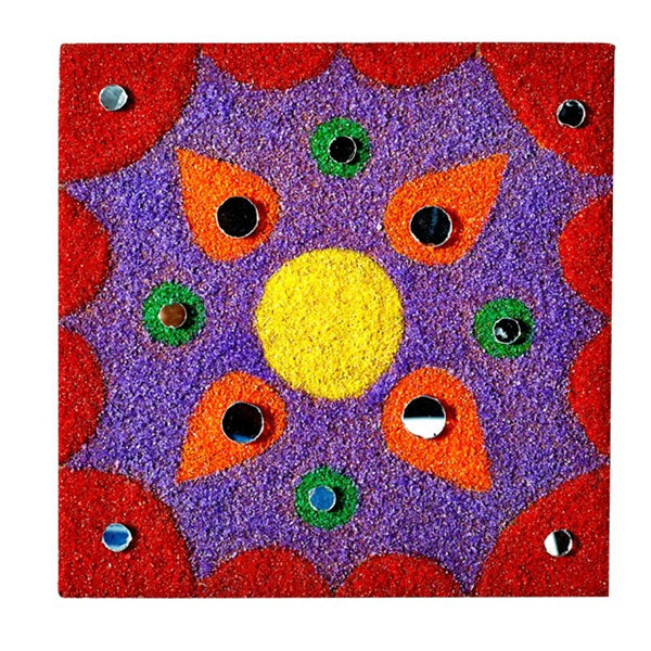 Sandembellish: Colourful Wooden Rangoli