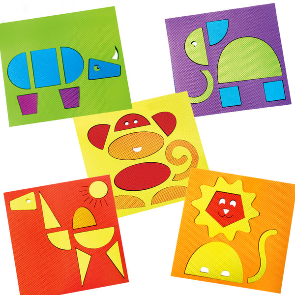 Make with Shapes Combo: Vehicles, Animals, Food