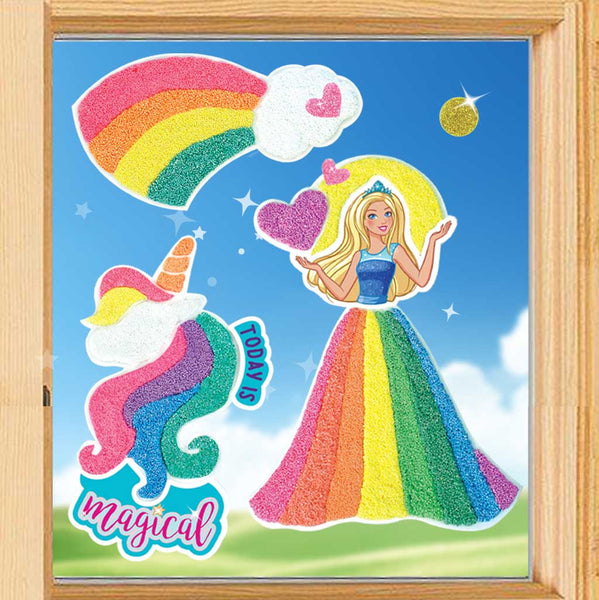 Gorgeous Barbie Window Stickers