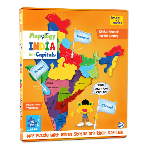 Mapology: India with Capitals Pack of 12