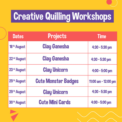 Creative Quilling and Clay Workshops