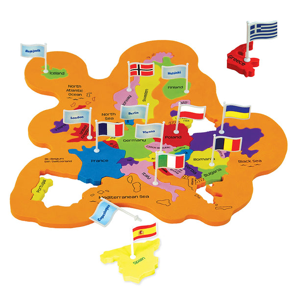 Mapology: World with Flags & Capitals Pack of 12