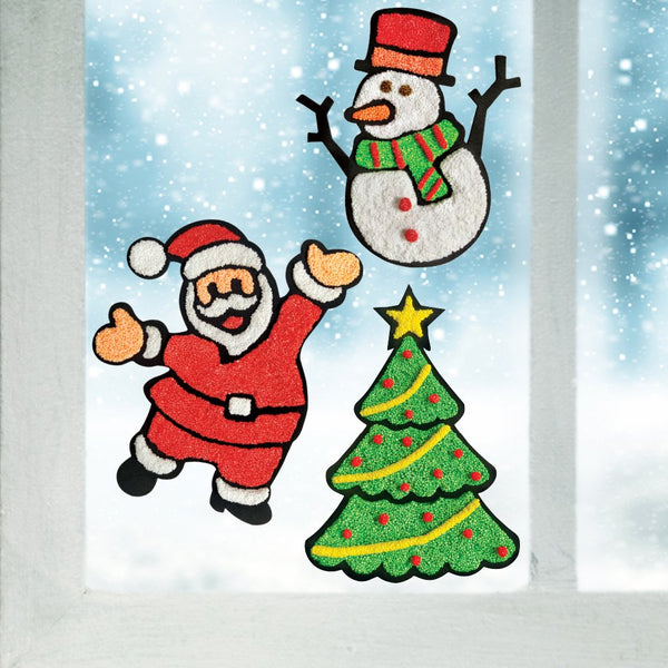 Window Art - Christmas Pack of 12
