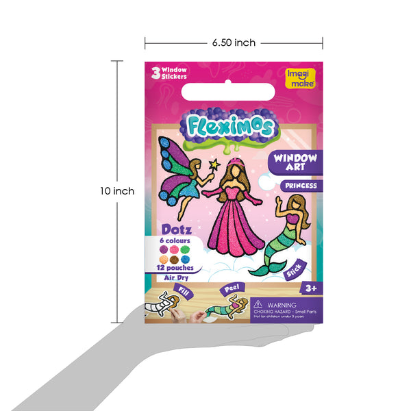 Window Art - Princess Pack of 12 - Per Piece Rs 233