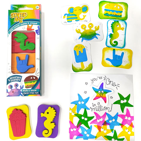Stamp Art - Assorted - Pack of 12