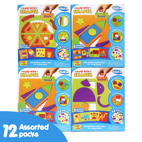 Make with Shapes Assorted Pack of 12