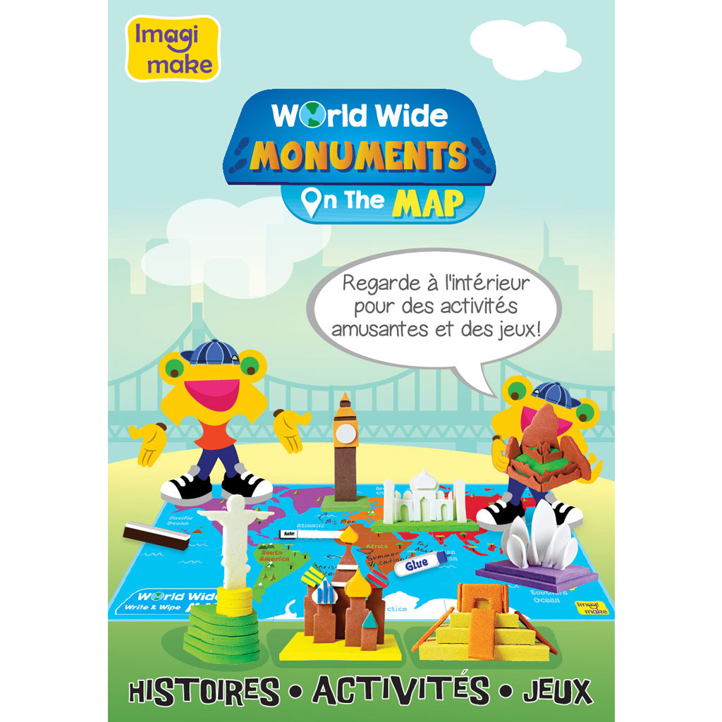 Monuments on the map activity book