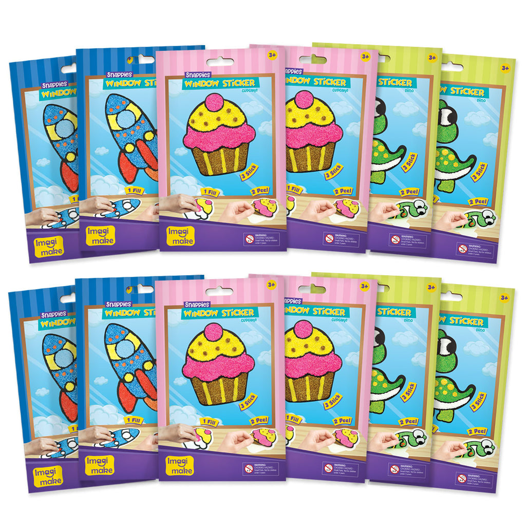 Snappies Window Art - Assorted Pack of 12