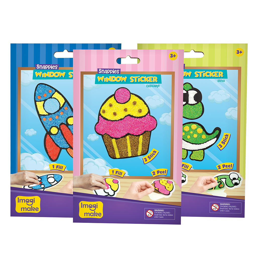 Snappies Window Art - Assorted Pack of 3