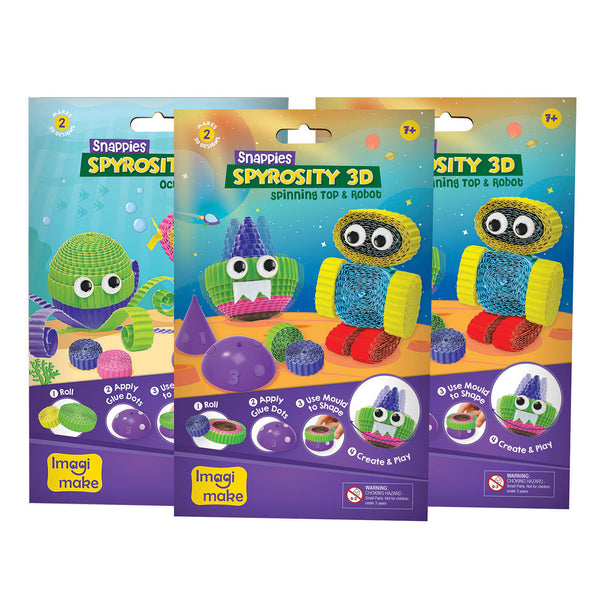 Snappies Spyrosity 3D - Assorted Pack of 3