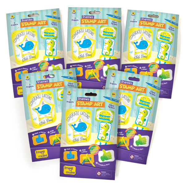 Snappies Stamp Art - Assorted Pack of 6