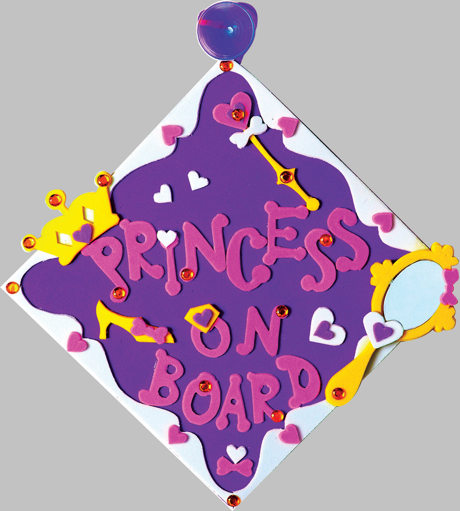 Princess themed car sign for kids