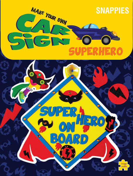 Car Sign - Superhero