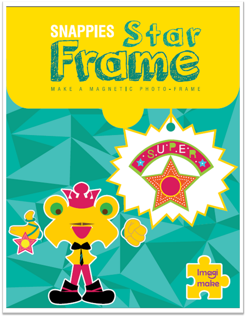 Magnetic photo frame for kids