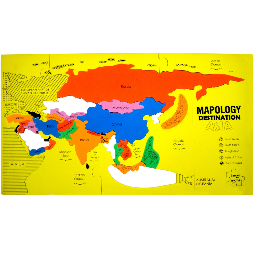 Foam Map Puzzle-Mapology Destination Asia-Educational Toy Set ...