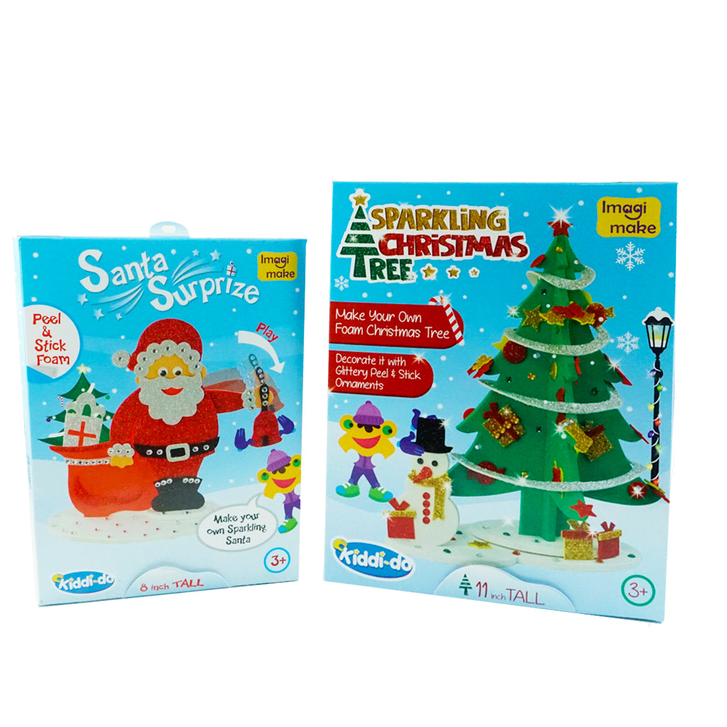 A Diy Kit For Children To Make Their Own Santa And Christmas Tree
