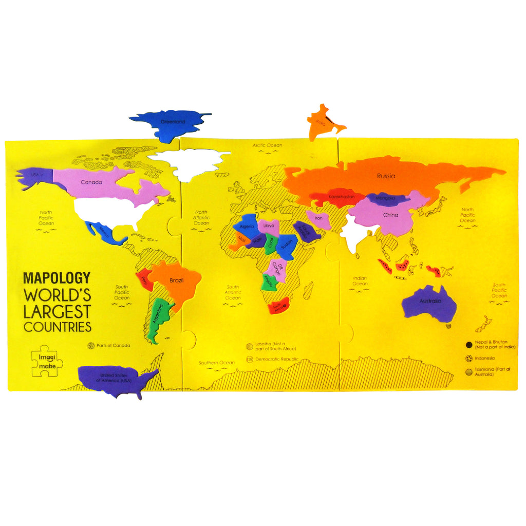 Mapology a series of foam based map puzzles for kids imagimake sold out world map puzzle sciox Image collections