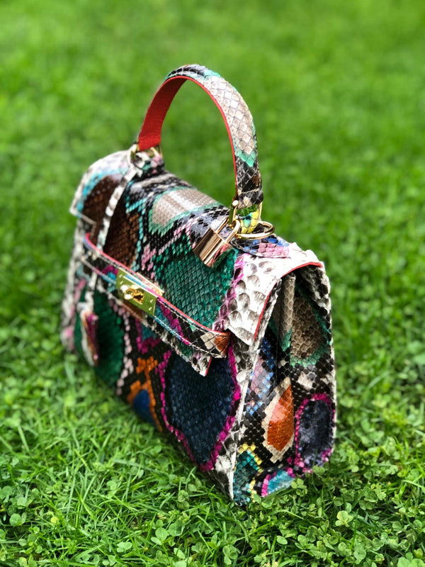Bolso  Luna Medium  Pitón Multicolor