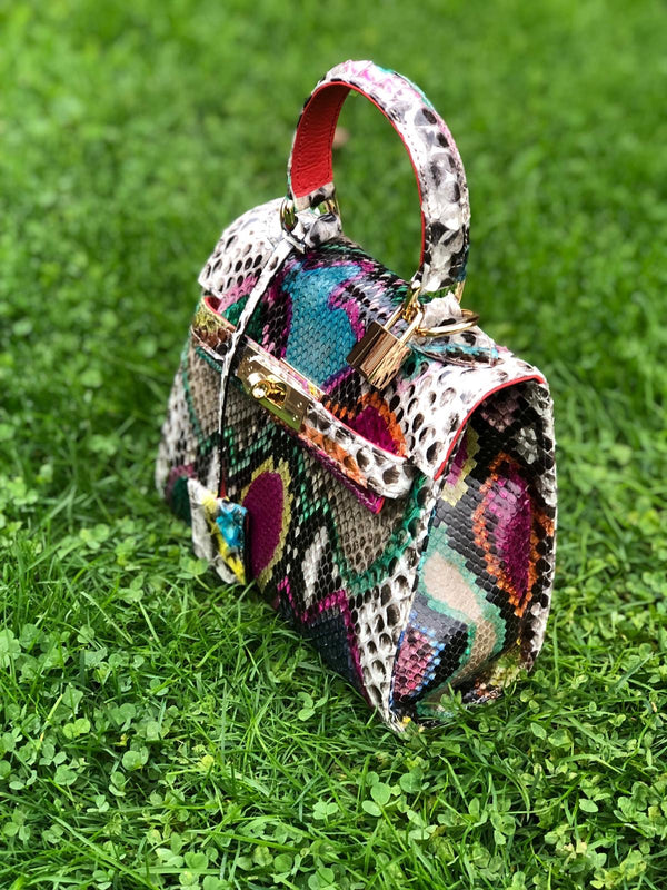 Bolso Luna Mini Pitón Multicolor