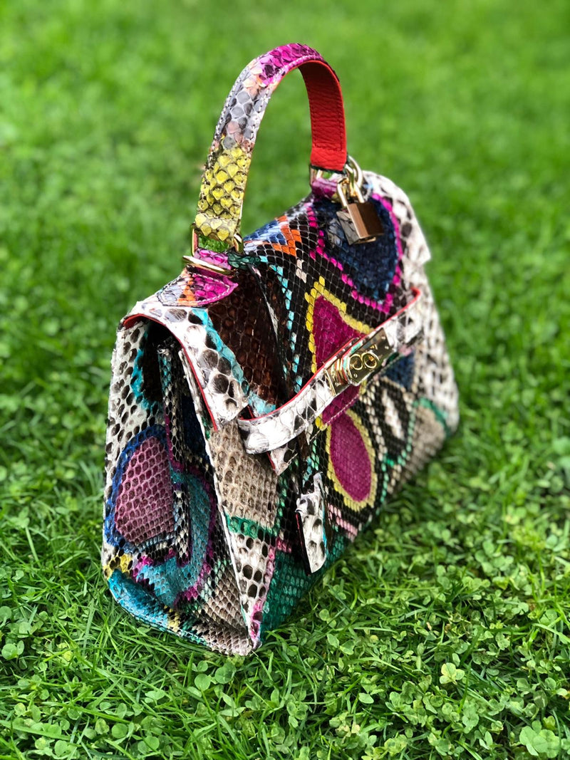 Bolso  Luna Medium  Pitón Multicolor 2