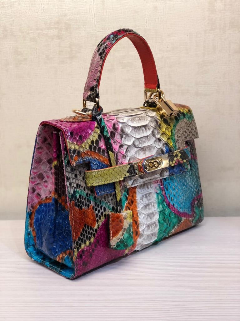 Bolso Luna Mini   Pitón Multicolor Escama