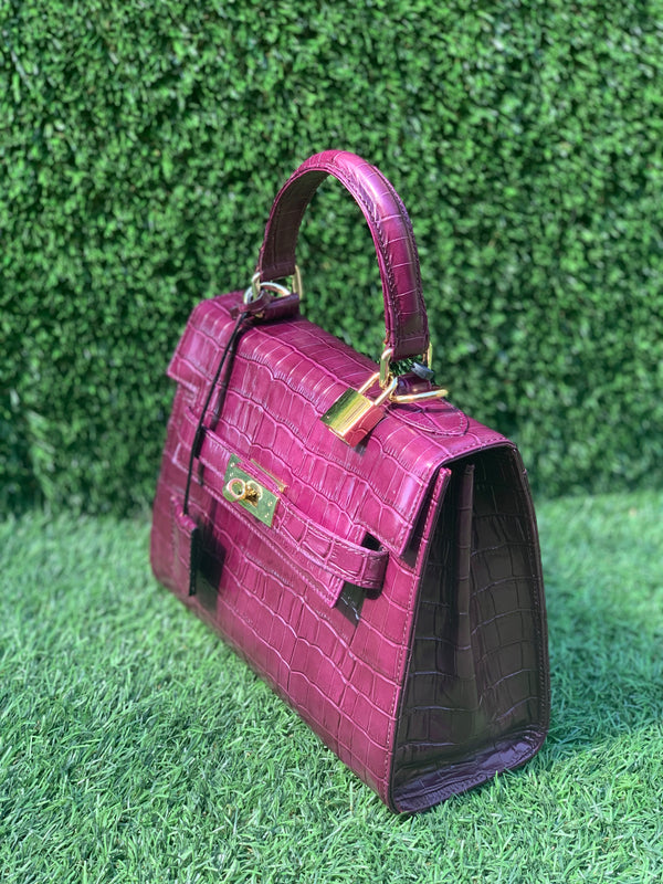 Bolso  Luna Medium   Piel Coco Purple