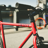 Fixie bicycle Matte red finish