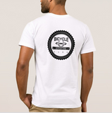 bike apparel white T-shirt back
