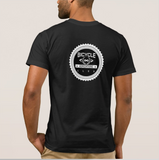 bike apparel black T-shirt back