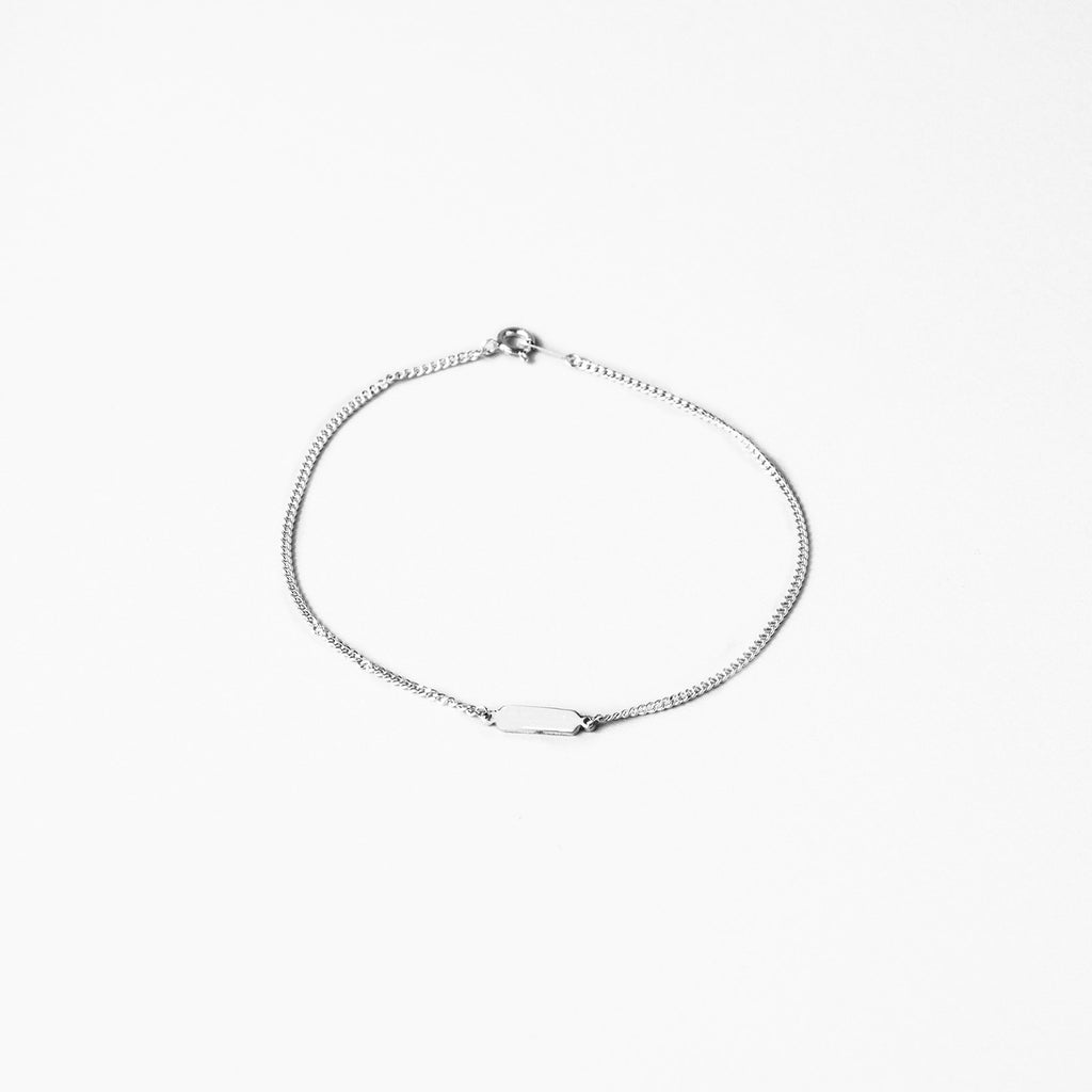 BE.ARUM Silver Chain Anklet (Free Engraving) - BE.ARUM  - 2