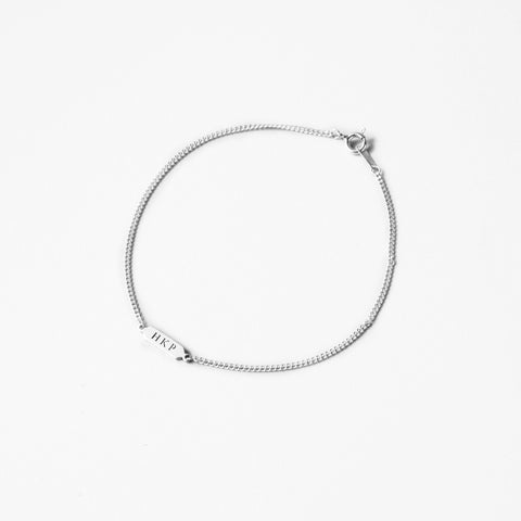BE.ARUM Silver Chain Anklet (Free Engraving) - BE.ARUM  - 1