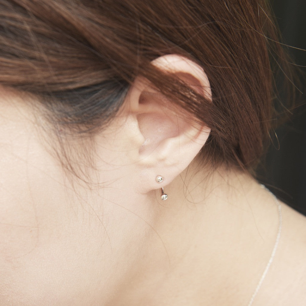 Top and Bottom Point Earrings - BE.ARUM  - 3