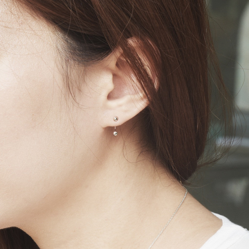 Top and Bottom Point Earrings - BE.ARUM  - 2