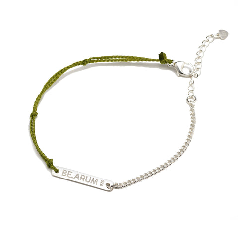 BE.ARUM Friendship Bracelet Olive (Free Engraving) - BE.ARUM  - 1