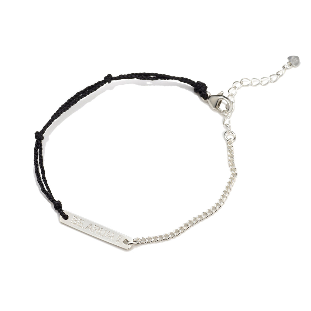 BE.ARUM Friendship Bracelet Black (Free Engraving) - BE.ARUM  - 2
